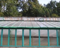 Обследование ремонта оранжереи санатория
