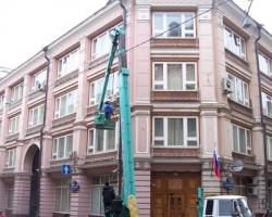 Обследование фасада здания росрезерва