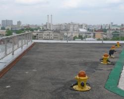 Обследование качества покрытия вертодрома на крыше здания